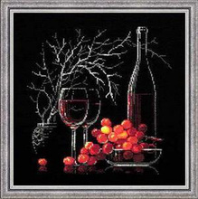 Needlework, DIY Cross Stitch, Conjuntos Para kits de bordado, 11CT & 14CT, Frutas e vinho