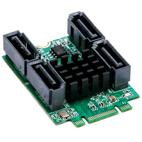 M 2 To 4 Ports SATA 3 0 Controller Card B M Key PCI E NGFF