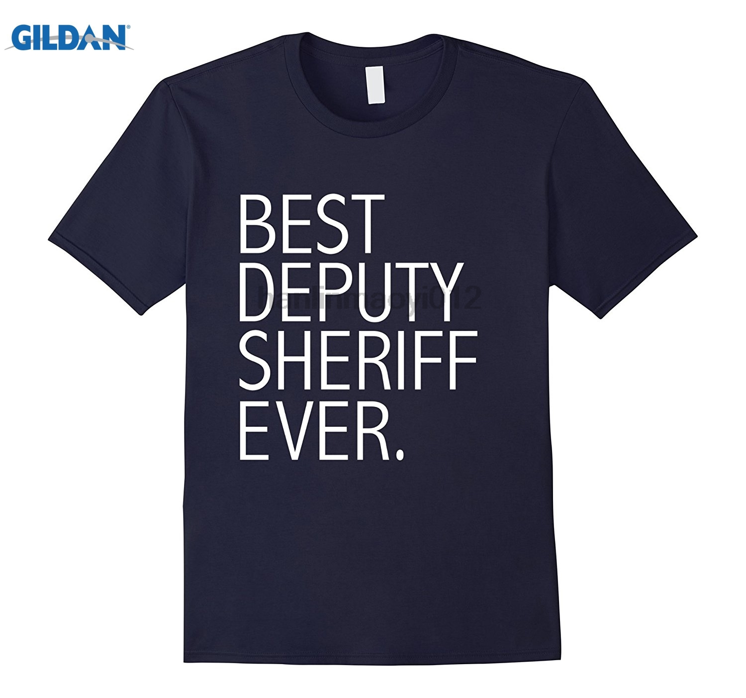GILDAN Best Deputy Sheriff Ever Police Officer Cop Law Enforcement Mothers Day Ms. T-shirt ...