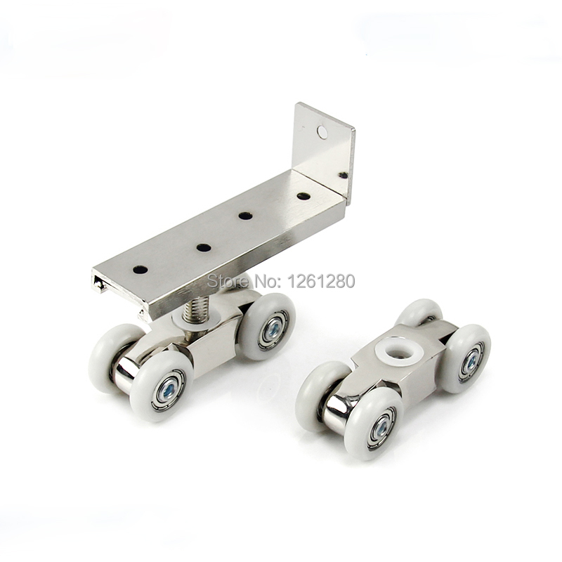 free shipping door roller Side mounted sliding door crane pulley wooden door track slide pulley hanging rail household hardware