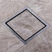 Плитка вставка квадратный Пол Отходов решетки Ванная комната Душ слив 110x110 или 150x150 мм, 304 нержавеющая сталь