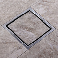 Free shipping Tile Insert Square Floor Waste Grates Bathroom Shower Drain 110 x 110 or 150x 150MM,304 Stainless steel