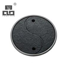 Tangpin 2017 neue ankunft runde schwarz geschirr keramik tee bord kung fu tee tablett
