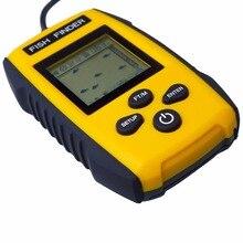 fishfinder Portable Sonar Fishfinder Alarm Fish Finder Wireless LCD display Free Shipping echo sounder