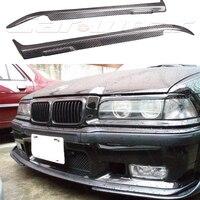 E36 Carbon Fiber Car Headlight Eyelid Eyebrows Cover Trim Sticker for BMW E36 1990 2000