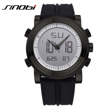 Led Digital Analog Quartz Watch Silicone Strap Military Sports