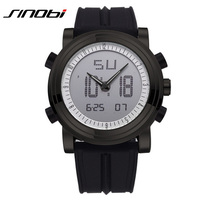 SINOBI Tag Hour Watch Mens Military Sports Dual Time Watch Multifunction Led Digital Analog Watch Green