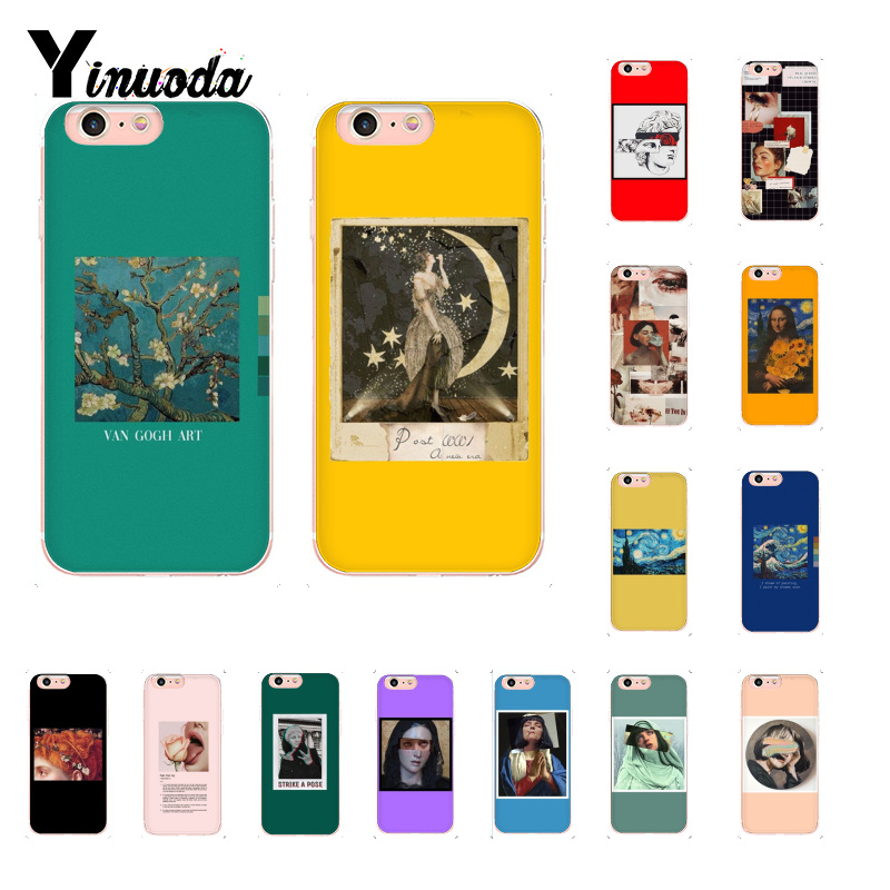 Yinuoda Aesthetic oil painting great art van gogh David <font><b>PhoneCase</b></font> for iPhone6S6plus 7 <font><b>7plus</b></font> 8 8Plus X XsMAX XR 11 11pro 11promax image