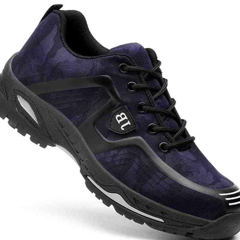 Männer Stahl Kappe Sicherheit Schuhe Casual Atmungsaktiv Arbeit Sneaker Anti-piercing aramid faser Schutz Schuhe