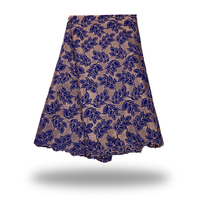 Französisch tüll Stoff 100% Baumwolle lila farbe Nigerianische Spitze Voile Schweizer Spitze Material. Afrikanisches Spitzegewebe FC17-TEP30 5 yards