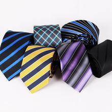 Men tie Korean 7.5cm striped tie business occupation polyester jacquard tie