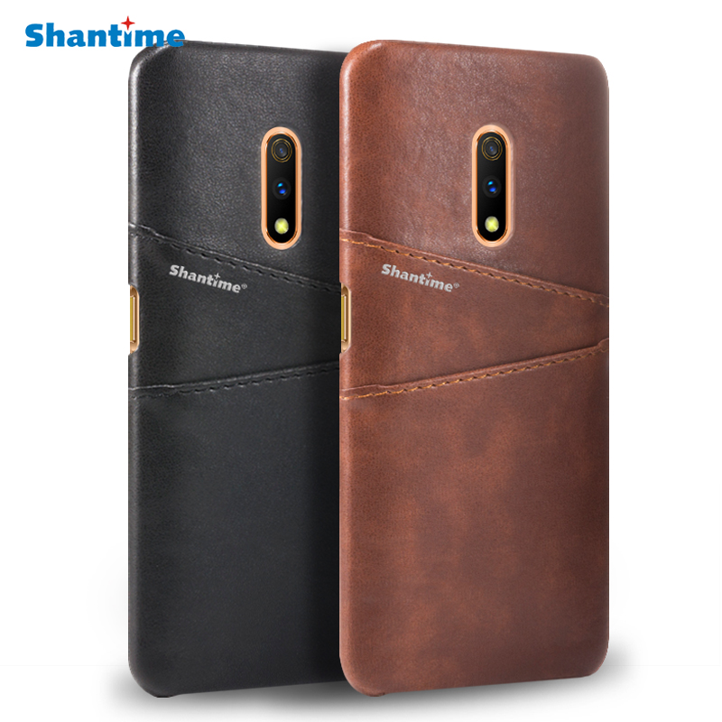 Luxury Vintage PU Leather Back Cover For <font><b>OPPO</b></font> <font><b>Realme</b></font> <font><b>X</b></font> <font><b>Phone</b></font> Case For <font><b>OPPO</b></font> K3 Card Slot Case image