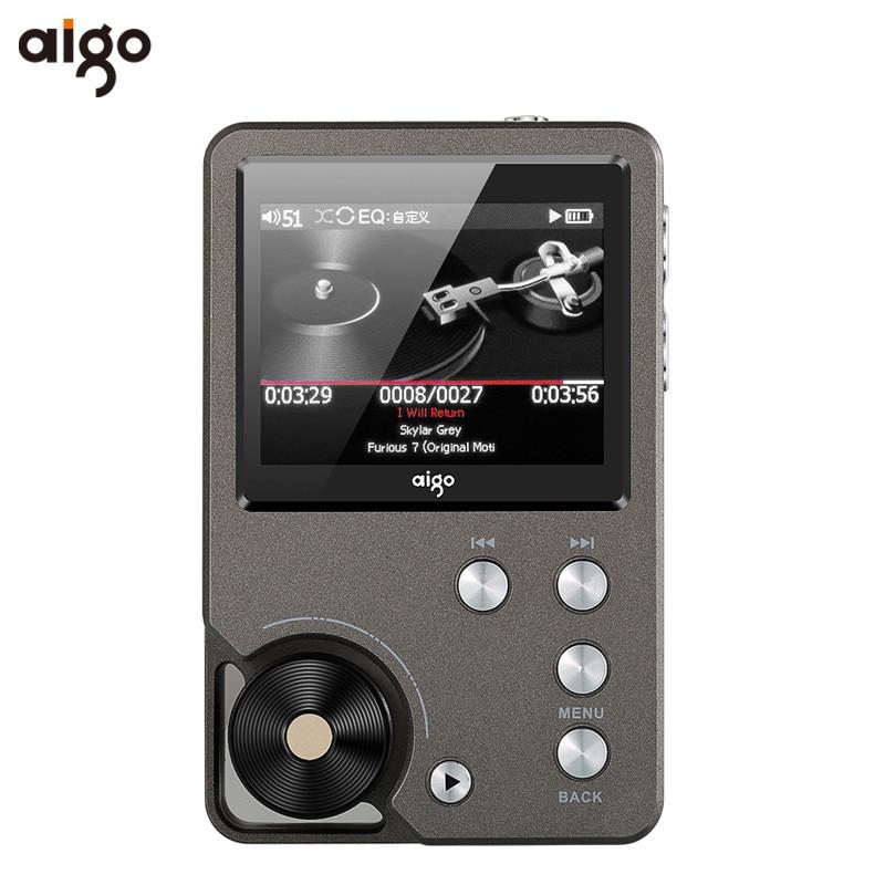 D'origine Aigo 105 MP3 Lecteur de Zinc Alliage HiFi Passionné Sans Perte musique 320x240 Résolution 2 Pouces 1500 mAh 8G Universel lecteur