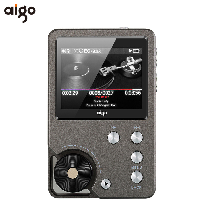 Original Aigo 105 MP3 Player Zinc Alloy HiFi Enthusiast Lossless Music 320 x 240 Resolution 2 Inches 1500mAh 8G Universal Player
