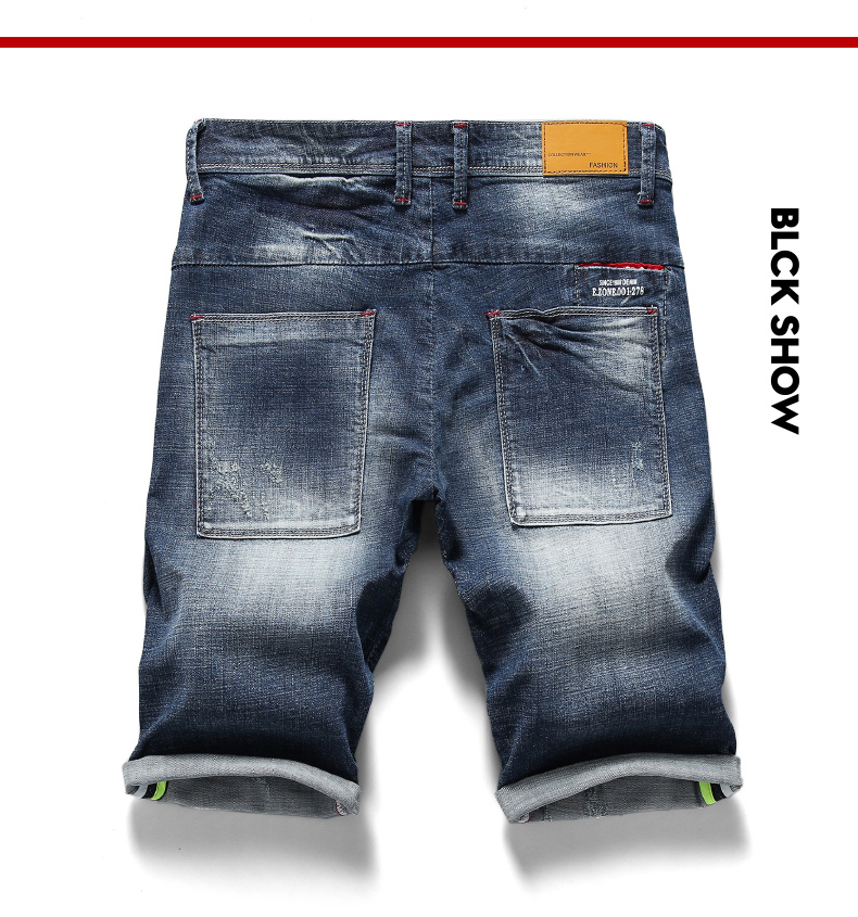 KSTUN 2020 New Arrivals Jeans Shorts for Men Regular Fit Stretch Blue Casual Pants Famous Brand Men's Clothes Male Cowboys Shorts 12
