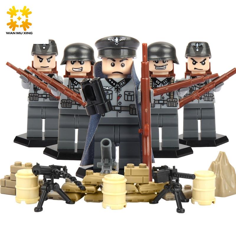 Baby DIY Self Locking Bricks Military Series font b Blocks b font Sets ABS Plastic Army