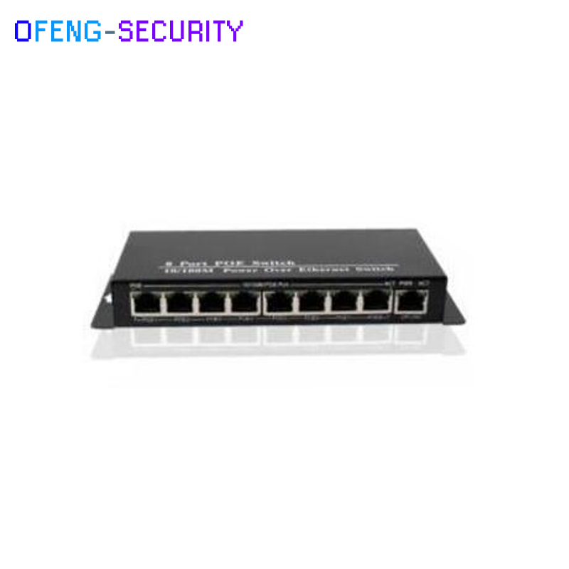 POE Switch, 9 port rj 45 ports with 10/100M 8 Port POE Switch with 1 Uplink Ethernet Switch, Mini Type Bandwidth:1.8Gbps cctv 4 port 10 100m poe net switch hub power over ethernet poe