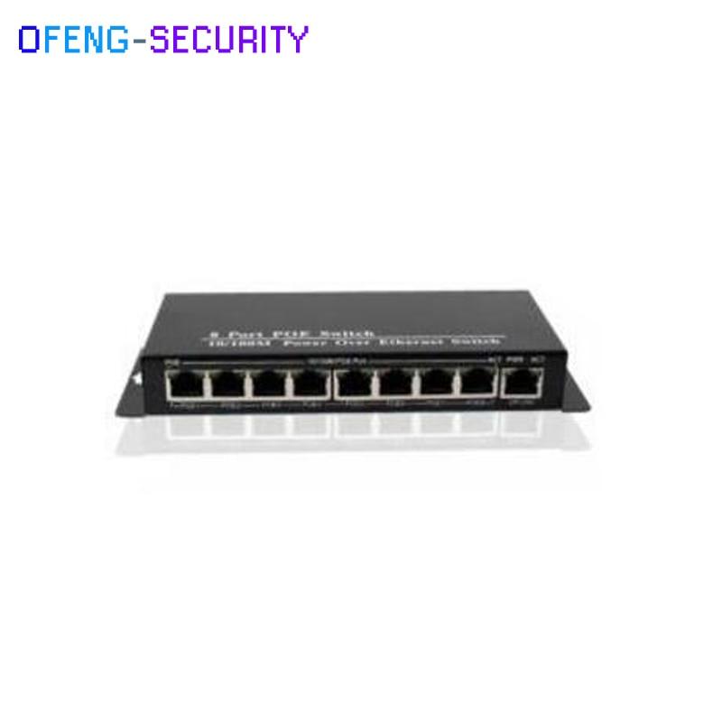 POE Switch, 9 Port Rj 45 Ports With 10/100M 8 Port POE Switch With 1 Uplink Ethernet Switch, Mini Type Bandwidth:1.8Gbps