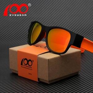 8bd66d4e365 100Eyewear mirror Folding trendy UV400 polarized sunglasses