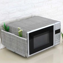 35*95cm Microwave Oven Dustproof Cover With Pockets Cloth Mi