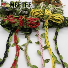 Meetee 10M 13Color Background Vines Flower Belt Photo Wall Glass Bottle Decoration Green Leaf Hemp Rope DIY Manual Accessories