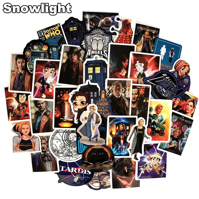 New 100 Pcs Cool Doctor Who Stickers For Luggage Trolley Case Skateboard Waterproof Personality Graffiti Stickers Pack