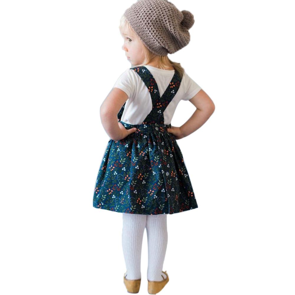 New Toddler Kids Girl Clothing Set White T shirt Tops