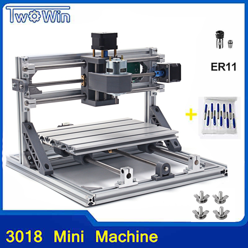 CNC Router DIY 3018 ER11 GRBL Control Diy CNC machine,3 Axis PCB Milling Machine,Wood Router Laser Engraving daniu 3018 3 axis grbl control 500mw laser diy cnc router milling engraving machine working area 30x18x40cm
