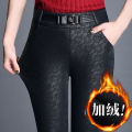 Make winter more add wool leather pants ms lace leggings to wear high waist pants big yards pants