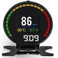 Автомобильный проектор GEYIREN AUTO P15 HUD OBDII  лобовое стекло OBD2 с дисплеем  км/ч  защита от превышения скорости