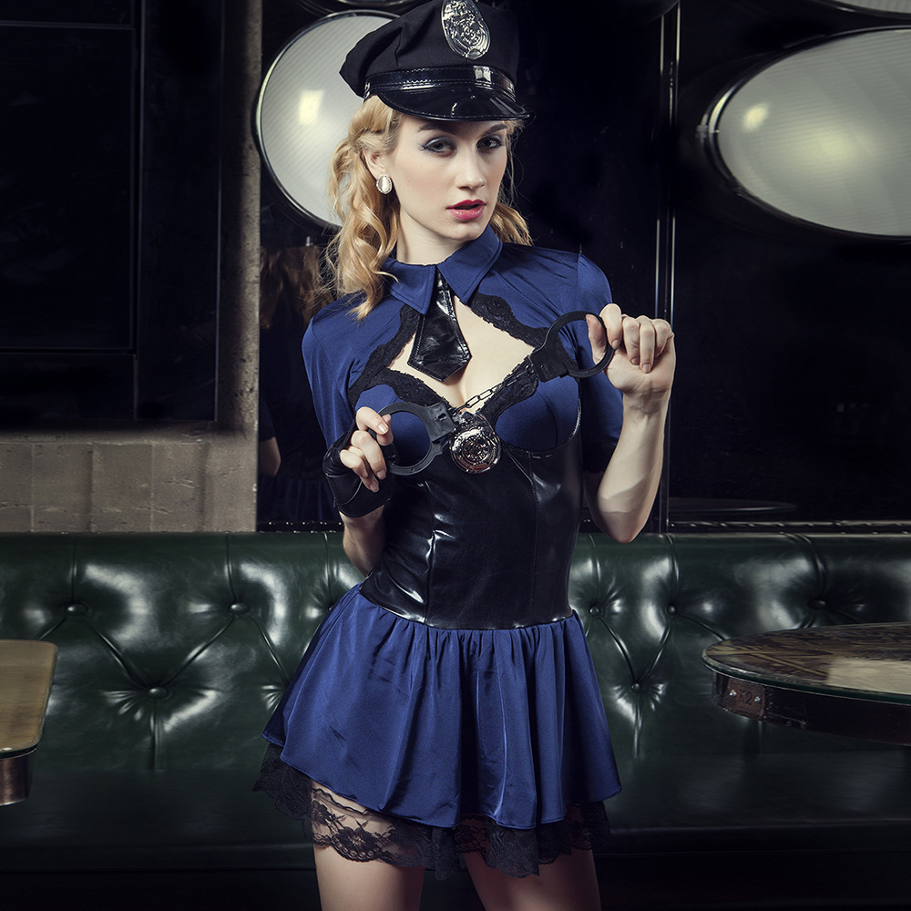 2016 Sexy Police Super Cool Traje de Instructor Militar Traje de - Disfraces