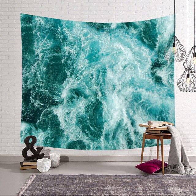 Uspirit Indian Dicetak Mandala Permadani Wall Hanging Dekorasi Bohemia Laut Dicetak Handuk Pantai Selimut Meja BoHo Karpet Dinding