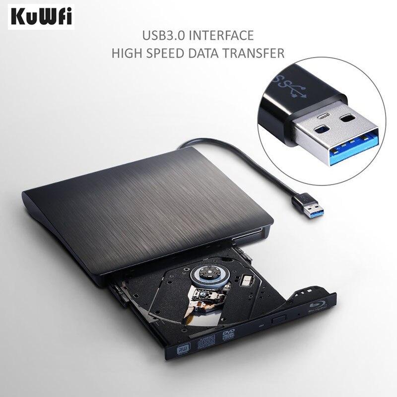 USB 3.0 Bluray Lecteur DVD/BD-ROM CD/DVD RW Graveur Écrivain Jouer 3D Film Lire Bluray Disque Externe lecteur DVD Support MAC OS Fenêtre
