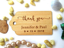 Check Discount Favour Wedding Thank you Favor bags tags, Wedding Gift tag personalized, Rustic Decor wood Hang Tags