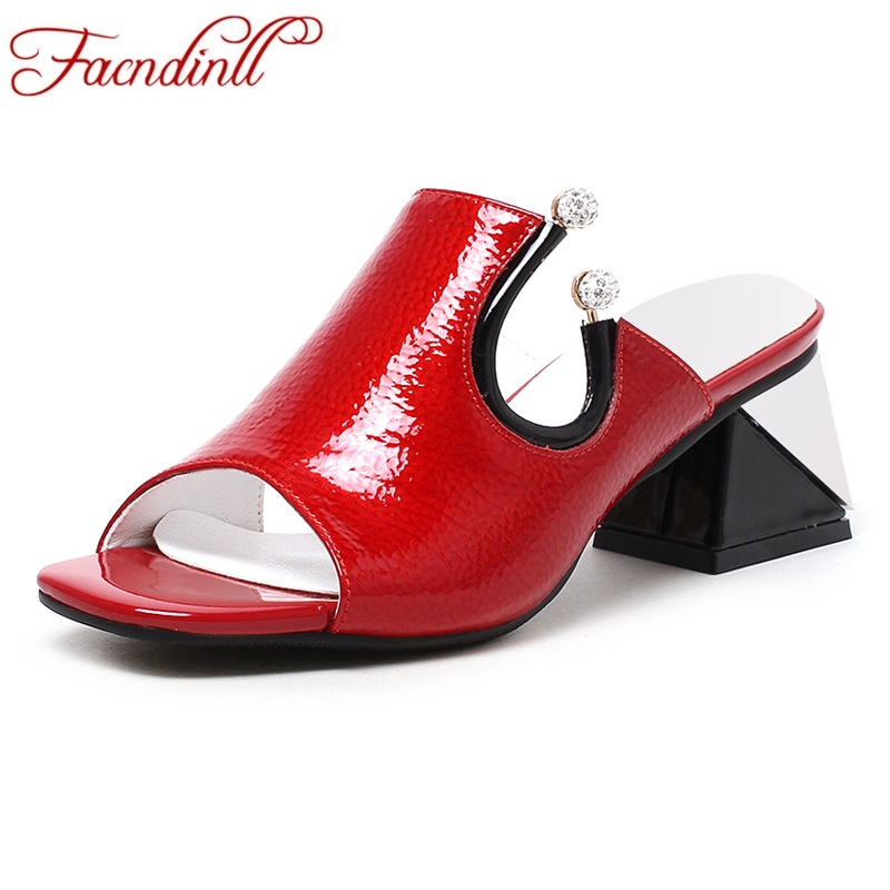 FACNDINLL shoes summer gladiator sandals for women new fashion genuine leather high heels peep toe shoes woman dress party shoes facndinll genuine leather sandals for