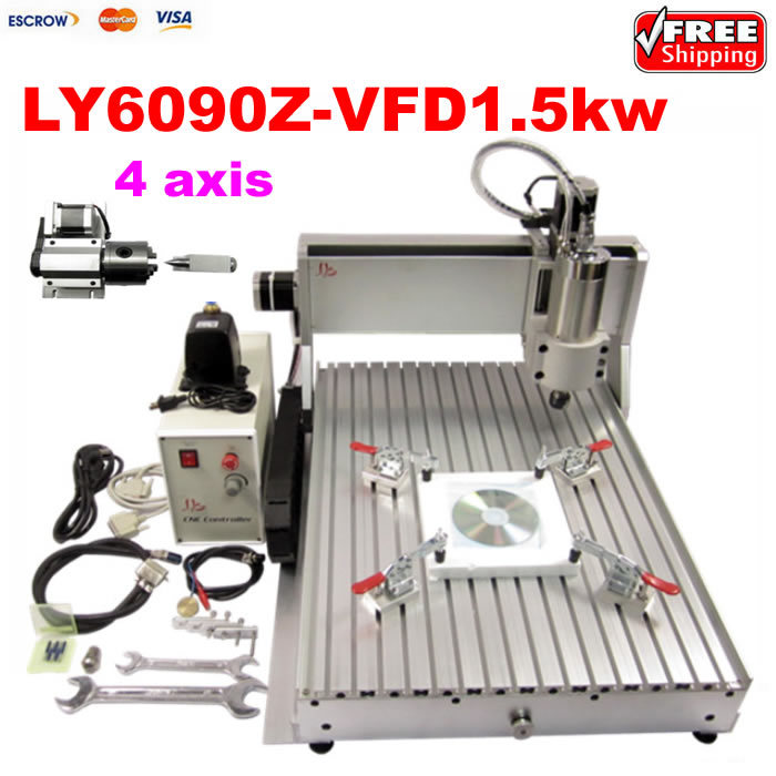 4 axis 1500w cnc router 6090 Engraver Drilling and Milling Machine for assembled jft new arrival high speed 4 axis 800w affordable cnc router with usb port precision drilling machine for woodworking 6090