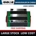 Линейный блок HIWIN HGW20HC, линейная карета/направляющая/рельсовая/ползунок, запчасти для ЧПУ подшипник, Линейный Фланец, блоки тяжелой нагрузки