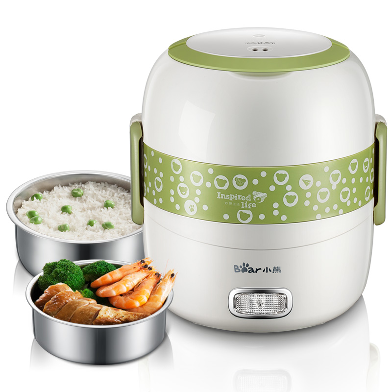 Vacuum Preservation Electric Lunch Box Double Layer Plug-in Heating Insulation Mini Steamed Rice Cooker Hot Rice Cooker homeleader 7 in 1 multi use pressure cooker stainless instant pressure led pot digital electric multicooker slow rice soup fogao