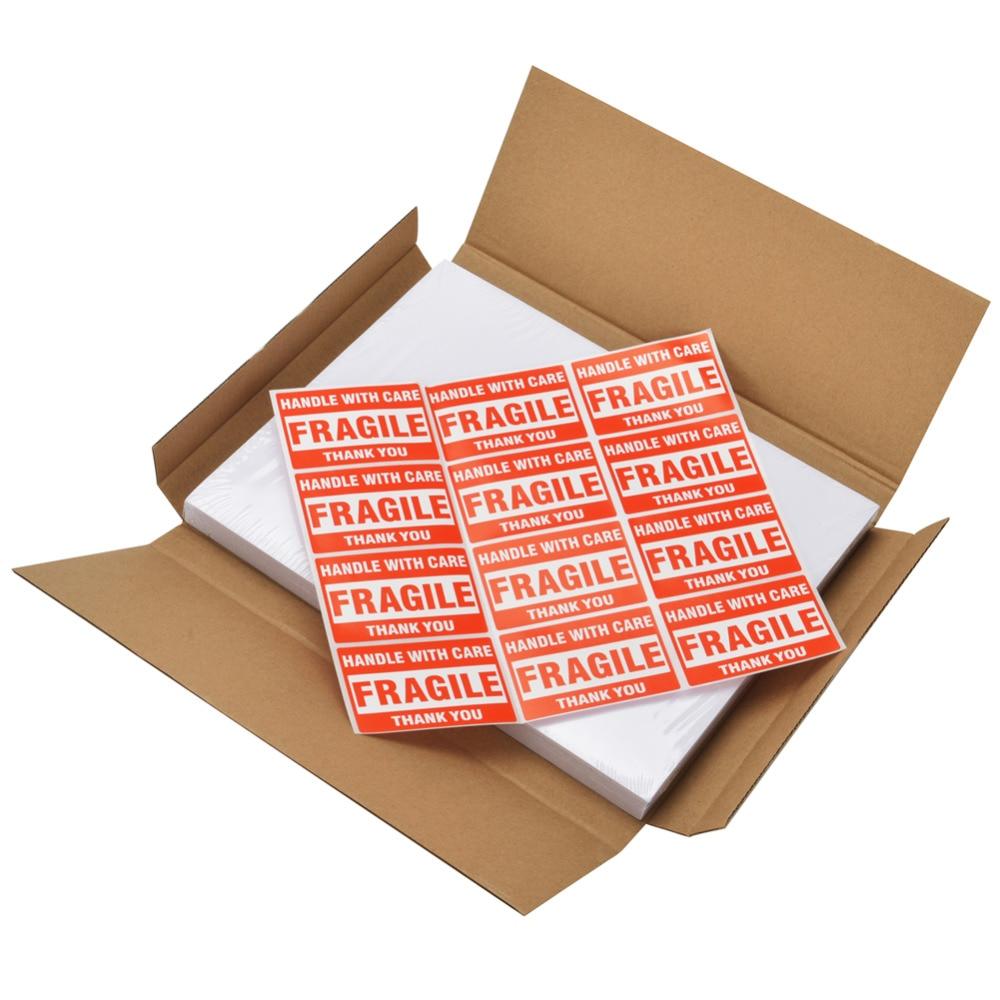UPS USPS FedEx Adhesive Print Paper 200 Half Sheet Labels for Laser &  Inkjet Printers 5 1/2