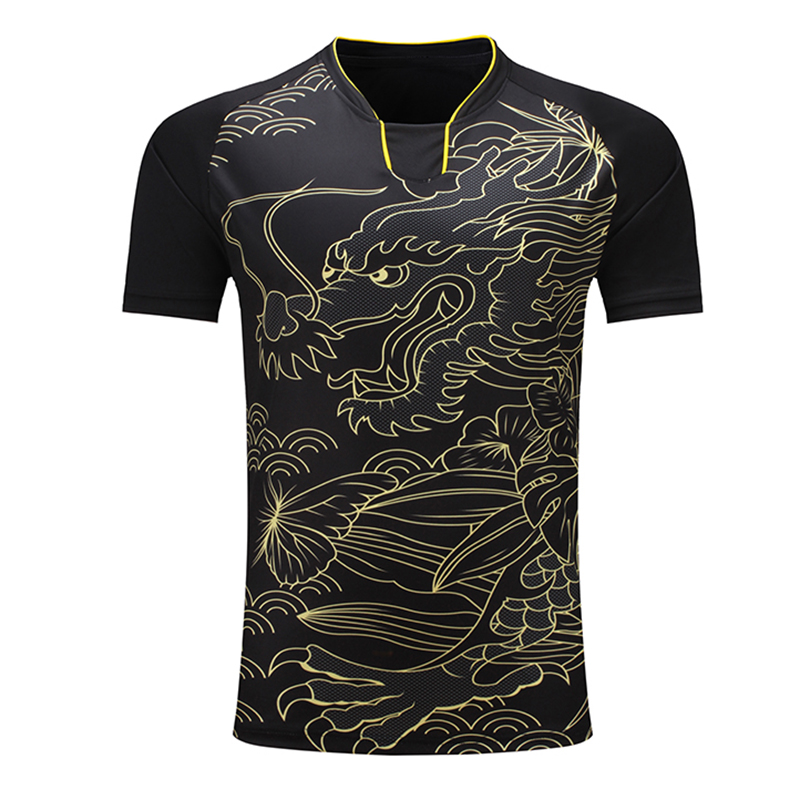 Shirt Trainning Table-Tennis Dragon-Team Quick-Dry Pingpong CHINA Men Men/women