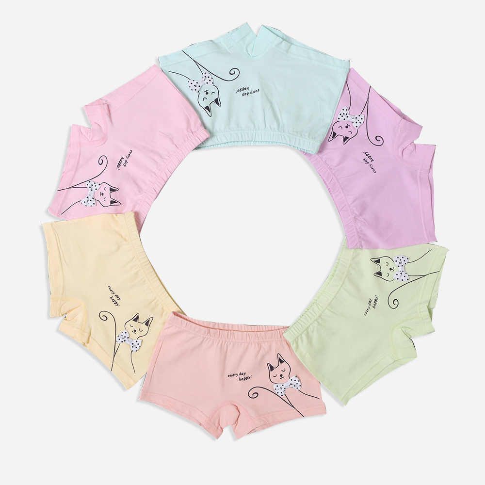 6 Pcs/lot Boys/Girls Boxer Children Underwear Cotton Baby Underwear Children Underpants Briefs for Girls Child's Underwear 2-7Y