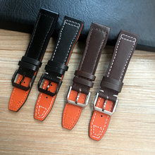 20mm 21mm 22mm Brown Black Men Watchband for IWC Pilot Mark XVIII IW327004 IW377714 Watch Strap Calf Genuine leather  Bracelet