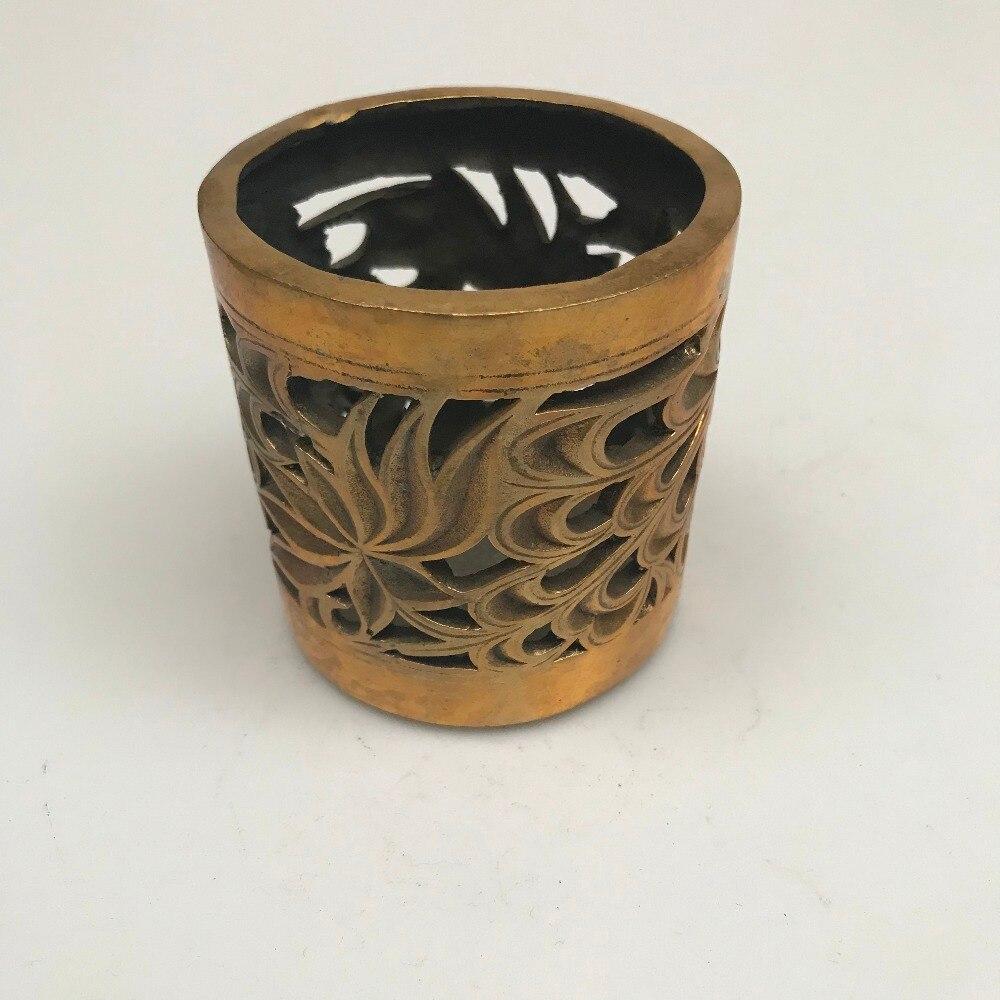Buy Antique handicrafts exquisite pure copper bronze antique flower Pen holder for $35.61 in AliExpress store