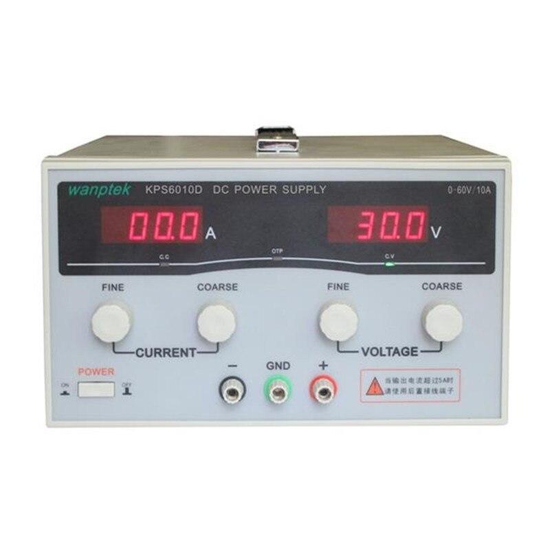 600 Вт KPS6010D Высокая точность Высокой Мощности Регулируемый СВЕТОДИОДНЫЙ Дисплей Импульсный Источник питания ПОСТОЯННОГО ТОКА 220 В 0-60 В/0-10A