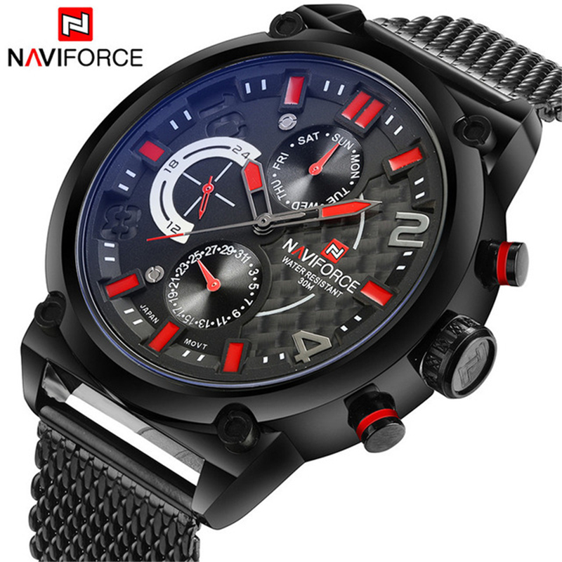 NAVIFORCE Brand Watch Men Fashion Casual Quartz-Watch Waterproof Watches erkek kol saati Top Luxury Clock relogio masculino 9068 lige mens watches top brand luxury man fashion business quartz watch men sport full steel waterproof clock erkek kol saati box