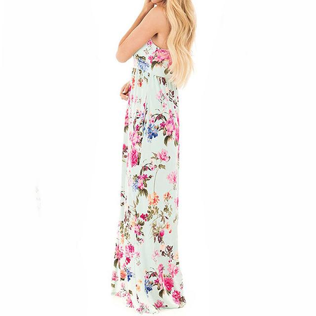 Boho Floral Printed Maxi Sundress
