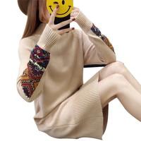 Women's Dresses Korean Fashion Clothing Lndie Folk Half High Collar Batwing Sleeve Knitted Straight Dress Ladies Loose Dress