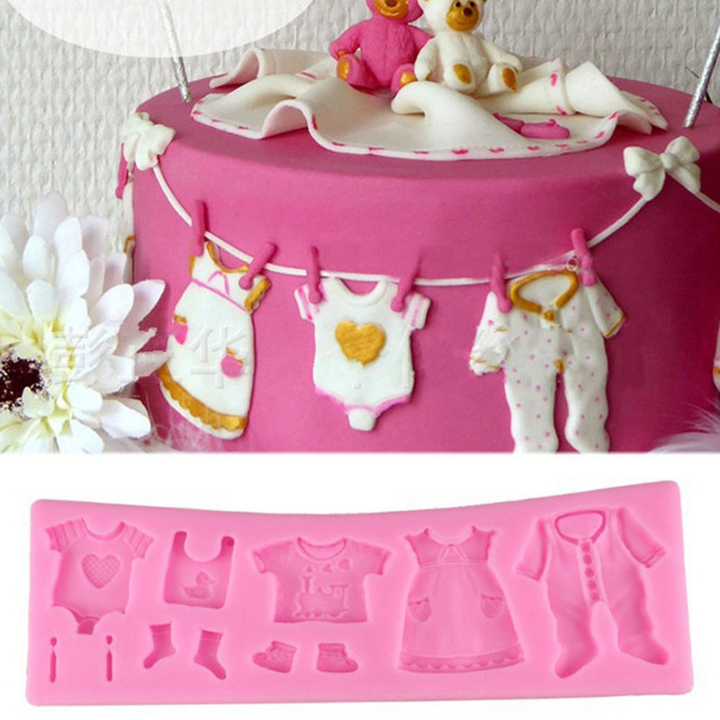 Hot Selling Pop Baby Clothes Shower DIY Silicone Mould ...
