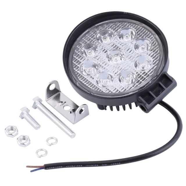 27 Вт 12 В в светодио дный светодиодный рабочий свет 60 градусов высокой мощности внедорожный свет круглый внедоросветодио дный жный светодиодный рабочий светильник прожектор для лодок охотничий Топ