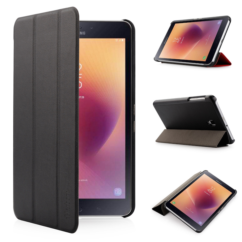 Stand Case for Samsung Galaxy Tab A 8.0 (2017), SM-T380 T385, iHarbort PU Leather Case smart Cover with Multi-Angles holder